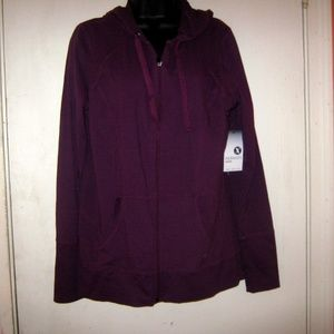 Xersion Medium French Grape Hooded Sweatsh…